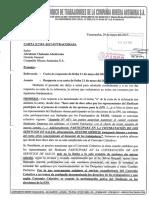 CARGO DE CARTA N° 104- 2017