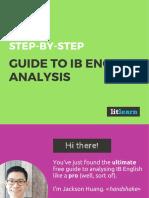 LitLearn Guide to IB English Analysis Standard
