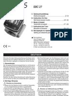 Manual de Tensiómetro SANITAS