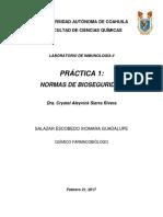 Practica #1; Normas de Bioseguridad