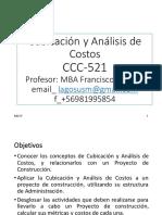20170506 CCC521 Cubicacio n y Ana Lisis de Costos (1)