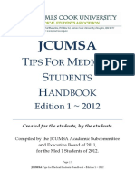 JCUMSA Tips for Medical Students