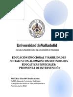 Educación Emocional y Habilidades Sociales Con Alumnos Con Nee Propuesta de Intervención (1)