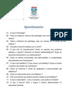 Questionc3a1rio de Podologia 2