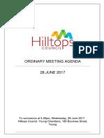 Hilltops Council Agenda Jun 28, 2017