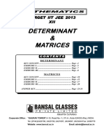 Determinant & Matrices TS Eng