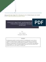 Análisis de vibraciones, mantenimiento predictivo y pronóstico de deterioro multidimencional