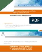 Principios Éticos, Normas y Deberes Profesionales