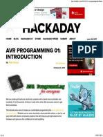 AVR Programming 01