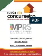 Apostila Mp Rs Secretario de Diligencias Direito Penal Joerberth Nunes