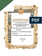 Informe de Lab. de Fisiologia Animal-funciones Reflejas