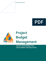 PM4DEV Project Budget Management