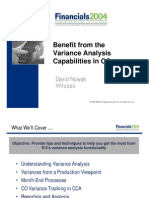 Benefit Variance Analysis