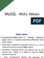 MySQL Handling NULL Values