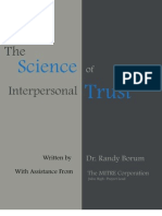 The Science of Interpersonal Trust - Approved for Release