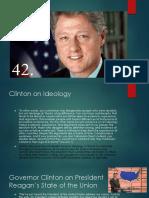 Clinton on Presidency