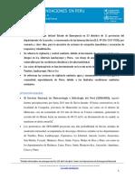 Informe Situacional del Perú Inundaciones