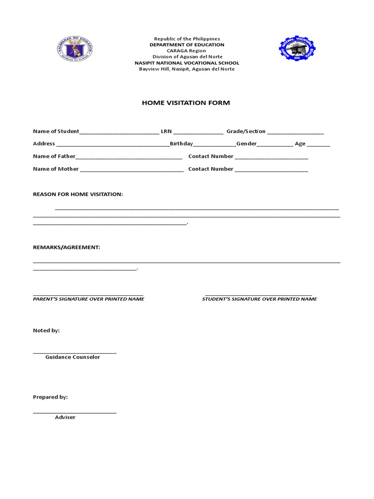 Home Visitation Form