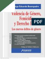 Violencia de Genero, Feminicidio y Derecho Penal1