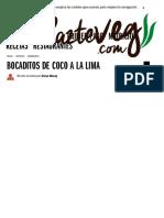 _Bocaditos de Coco a La Lima _ Meriendas _ HazteVeg