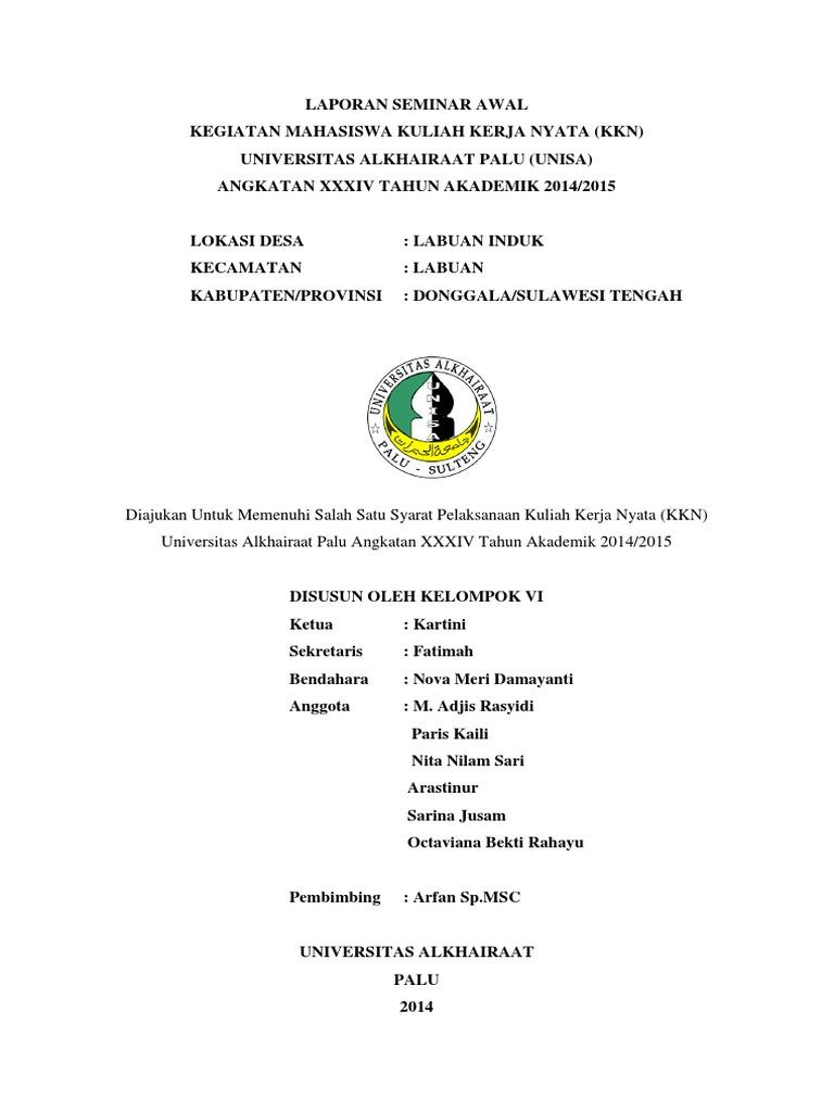 Laporan Seminar Awal Docx