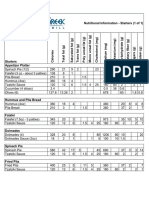 Little Greek Nutrition Info on 1 Sheet