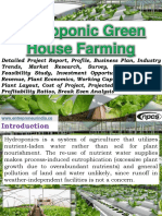 Hydroponic Green House Farming Detailed Project Report, Profile, Business Plan, Industry Trends, Market Research, Survey, Raw Materials, Feasibility Study, Investment Opportunities, Cost and Revenue, Plant Economics, Working Capital Requirement, Plant Layout, Cost of Project, Projected Balance Sheets, Profitability Ratios, Break Even Analysis