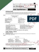 (5167)Sheet Ionic Equilibrium Elementary Theory e