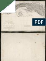 Carta de La Isla de Cuba Con Las Islas Cayos Bancos y Canales Adyacentes Canal Viejo de Bahama y La Parte Corográfica de La Isla Material Cartográfico