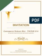 CAM 2106 Invitation