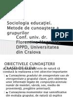 Sociologia Educatiei Metode Cunoastere Grup
