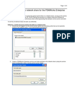 How to Use a Remote Network Share for the PDMWorks Enterprise File Vault Archives