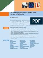 Demograpic Socio Concept of Business
