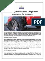Donavan Insurance Group - 10 Tips Om Te Besparen Op Car Insurance