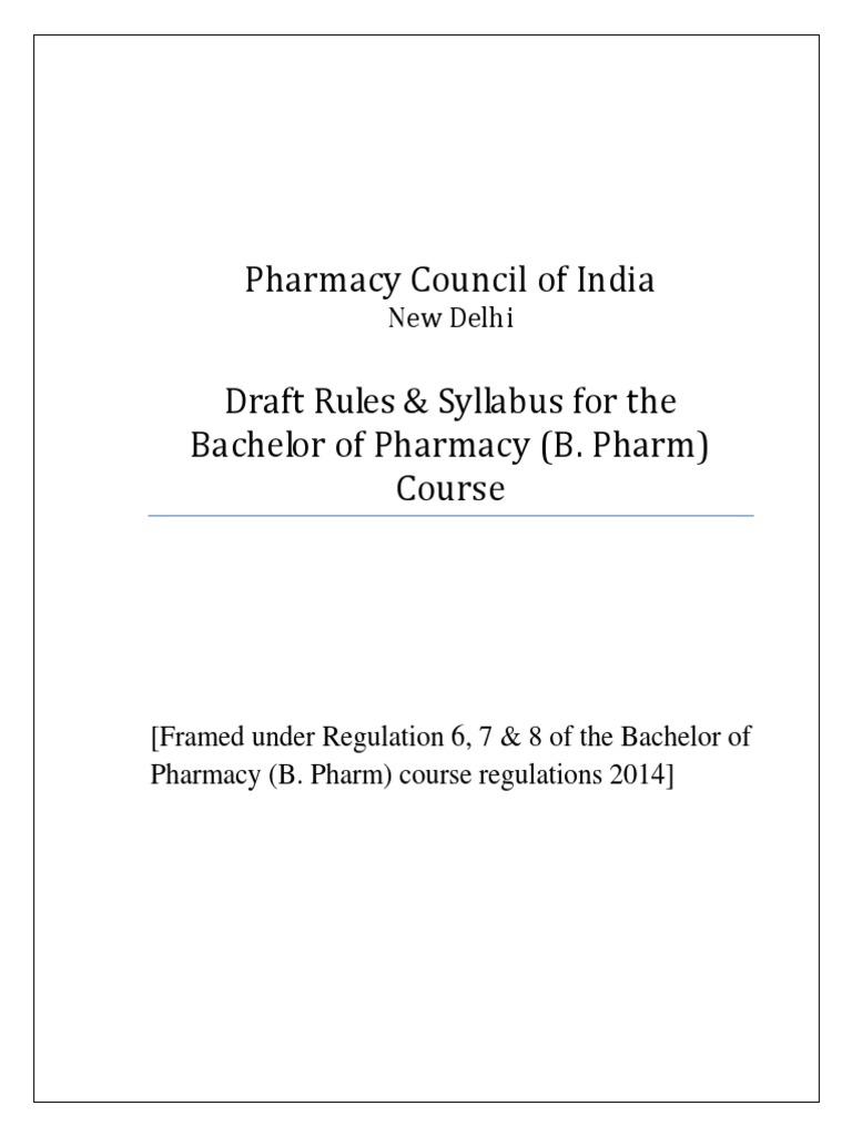 revised new pci syllabus 2017 pharmacology human resource management