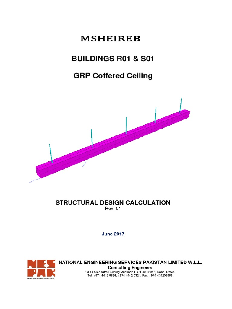 20170622 - GRP Coffered Ceiling Design Report (Rev 01) | Structural