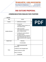 [Course Outline Proposal] Communication English for Starters @GEE