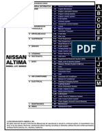 2004 NISSAN ALTIMA QUICK REFERENCE INFORMATION