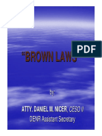 6th Session - Brown Laws (Asec