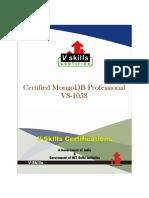 Vs 1058 Certified MongoDB Professional Brochure