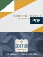 Cationic Cotton Presentation