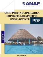 Ghid Oficial ANAF Pentru Aplicarea Impozitului Specific