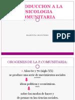 Montero Introducción a La Psic. Comunitaria