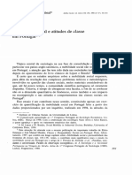 Mobilidade Social e Atitudes de Classe Em Portugal