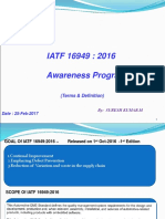 IATF 16949 Awareness Training-terms Only