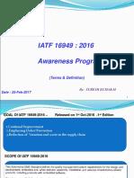 IATF 16949 Awareness Training-terms Only