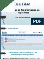 Técnicas de Programação de Algoritmos - Prof. Alex
