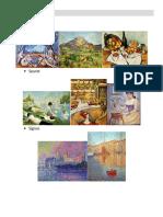 Postimpresionismo y Vanguardias - Ejemplos PinturAS