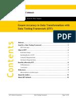 Data Testing Framework DTF