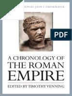 A Chronology of the Coman Empire